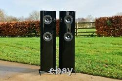 Vienna Acoustics SCHONBERG RARE BLACK HIGH GLOSS Floorstanding Speakers £3k
