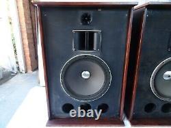 Vintage Altec Lancing 15 Floor Standing Speakers Horn Mids & Tweeters 57KG EACH