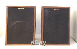Vintage Klipsch Heresy II 3 Way 12 Floorstanding Loudspeakers Consecutive SN#