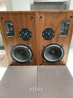 Vintage Mission Model 710 Speakers Floor Standing Wood Finish High End Hifi POST