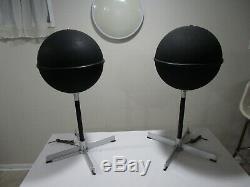Vintage Pair of JVC Model 5303 Mid Century Modern Floor Standing Speakers MCM