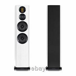 Wharfedale Evo 4.4 Loudspeakers PAIR White Floorstanding Speaker Ribbon Tweeter