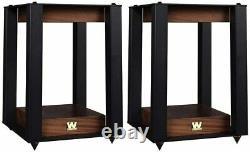 Wharfedale Linton Speakers Mahogany with Stands Floor Standing Loudspeakers